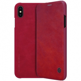 Nillkin Qin Leather Case iPhone XS Max - Red