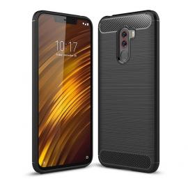 OEM TPU Carbon Back Flexible Cover Xiaomi Pocophone F1 - Black