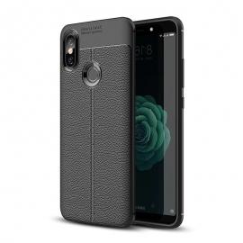 OEM Litchi Pattern Flexible Cover Case Xiaomi Mi A2 - Black
