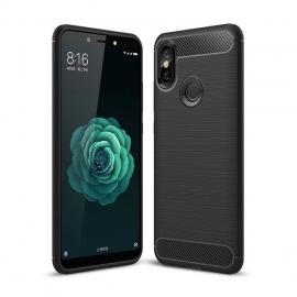 OEM Carbon Case Flexible Cover Xiaomi Mi A2 - Black