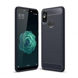 OEM Carbon Case Flexible Cover Xiaomi Mi A2 - Blue
