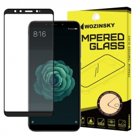 Wozinsky Tempered Glass Full Glue Full Face Case Friendly Xiaomi Mi A2 - Black