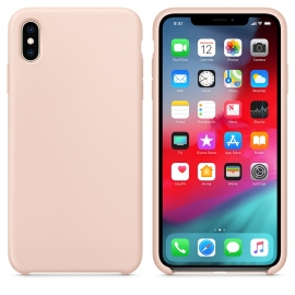 OEM Silicone Case Soft Flexible Rubber Cover iPhone XS Max - Pink
