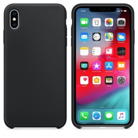 OEM Silicone Case Soft Flexible Rubber Cover iPhone XS Max - Black