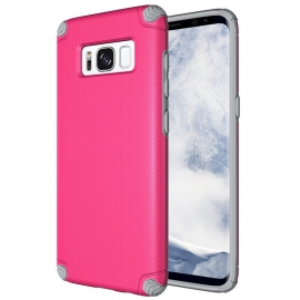 OEM Light Armor Case Rugged PC Cover Samsung Galaxy S8 - Pink