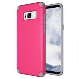 OEM Light Armor Case Rugged PC Cover Samsung Galaxy S8 Plus - Pink