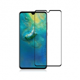 Home Screen Tempered Glass Full Cover Huawei Mate 20 - Black