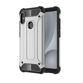 OEM Hybrid Armor Case Tough Rugged Cover Xiaomi Mi A2 - Silver