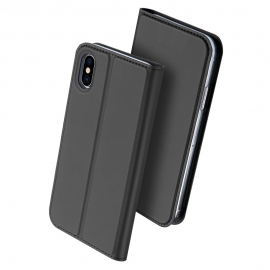 Duxducis SkinPro Flip Θήκη iPhone X/XS - Grey