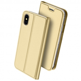 Duxducis SkinPro Flip Θήκη iPhone X/XS - Gold