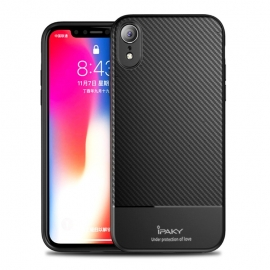 iPaky Carbon Fiber flexible cover TPU Case iPhone XR - Black