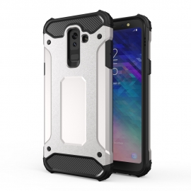 OEM Hybrid Armor Case Tough Rugged Samsung Galaxy A6 Plus 2018 - Silver