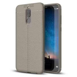 OEM Litchi Pattern Flexible Cover Case Huawei Mate 10 Lite - Grey