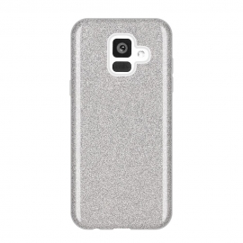 OEM Forcell Shining Case Samsung Galaxy A6 2018 - Silver