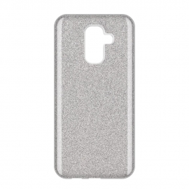 OEM Forcell Shining Case Samsung Galaxy A6 Plus 2018 - Silver