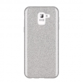 OEM Forcell Shining Case Samsung Galaxy J6 2018 - Silver