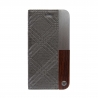 Uunique Book Case iPhone 7/8 Hard Shell - Trinity Emboss Grey
