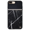 Uunique Back Case iPhone 7/8 Plus Hard Shell - Real Marble Black