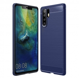 OEM Carbon Case Flexible Cover TPU Huawei P30 Pro - Blue