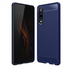 OEM Carbon Case Flexible Cover TPU Huawei P30 - Blue