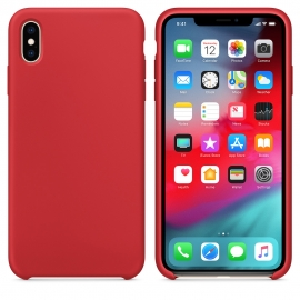 OEM Silicone Case Soft Flexible Rubber Cover iPhone Xs Max - Red