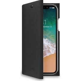 Celly Shell Wallet Case iPhone X/Xs - Black (SHELL900BK)