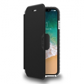 Celly Hexawally Case iPhone X/Xs - Black (HEXAWALLY900BK)