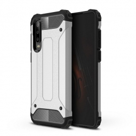 OEM Hybrid Armor Case Tough Rugged Cover Huawei P30 - Silver