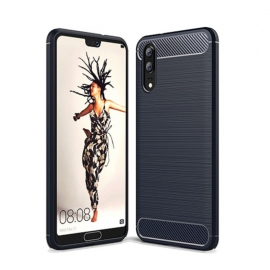 OEM Carbon Case Flexible Cover TPU Huawei P20 - Blue