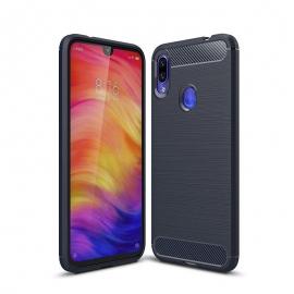 OEM Carbon Case Flexible Cover TPU Xiaomi Redmi Note 7 - Blue
