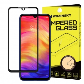 Wozinsky Tempered Glass 9H Full Glue Case Friendly Xiaomi Redmi Note 7 - Black