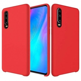 Silicone Case Soft Flexible Rubber Huawei P30 - Red