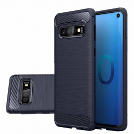 OEM Carbon Case Cover Flexible Samsung Galaxy S10 - Blue