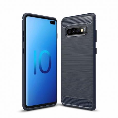 OEM Carbon Case Cover Flexible Samsung Galaxy S10 Plus - Blue