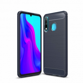 OEM Carbon Case Flexible Cover TPU Huawei P30 Lite - Blue