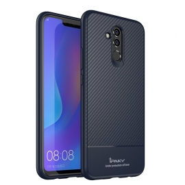 iPaky Carbon Fiber flexible cover TPU Huawei Mate 20 Lite - Blue