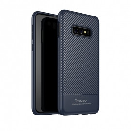 iPaky Carbon Fiber flexible cover TPU Samsung Galaxy S10e - Blue