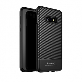 iPaky Carbon Fiber flexible cover TPU Samsung Galaxy S10e - Black