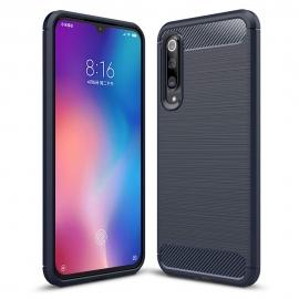 OEM Carbon Case Flexible Cover TPU Case Xiaomi Mi 9 - Blue