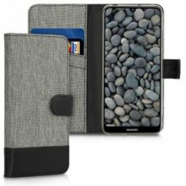 KW Wallet Case Huawei Y6 / Y6 Prime 2019 - Grey / Black (48126.01)