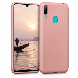 KW TPU Silicone Case Huawei Y7 / Y7 Prime 2019 - Metallic Rose Gold (47661.31)