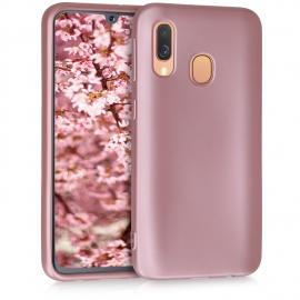 KW TPU Silicone Case Samsung Galaxy A40 - Metallic Rose Gold (48546.31)