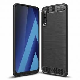 OEM Carbon Case Flexible Cover Case Samsung Galaxy A70 - Black