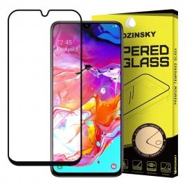 Wozinsky Tempered Glass Full Glue Case Friendly Samsung Galaxy A70 - Black