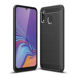 OEM Carbon Case Flexible Cover Case Samsung Galaxy A40 - Black