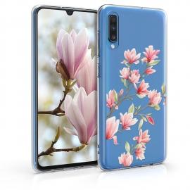 KW TPU Silicone Case Samsung Galaxy A70 - Magnolias Light Pink White (48433.01)