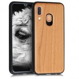 KW Wooden Case TPU bumper Samsung Galaxy A40 - Dark Brown
