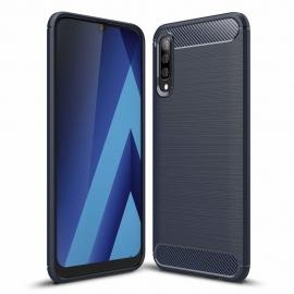 OEM Carbon Case Flexible Cover Case Samsung Galaxy A70 - Blue