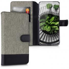 KW Wallet Case Samsung Galaxy A80 - Grey / Black (48443.22)