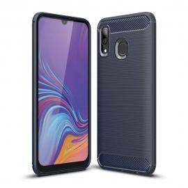 OEM Carbon Case Flexible Cover Samsung Galaxy A40 - Blue